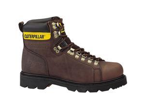 Grain Leather Work Boots Slip Resistant Sole Goodyear Welt construction
