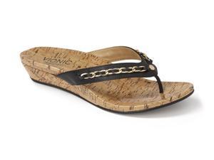 Vionic Aruba - Women's Wedge Orthaheel Sandals Black
