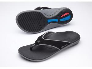 Spenco Yumi Men's Orthotic Flip Flops Carbon / Pewter
