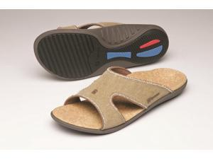 Spenco Kholo Women's Orthotic Slide Sandals Straw /Java/Cork
