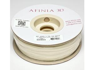 AFINIA Value-Line White ABS Filament for 3D Printers