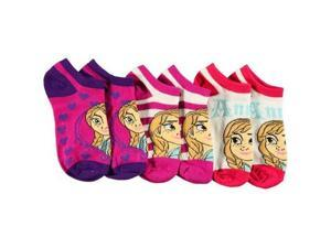 Disney Frozen Ice Queen Size 4-6 Ankle Socks 3-Pack