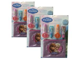 Disney Frozen Nail Polish and Lip Gloss set with Zipper Pouch - 3 pack