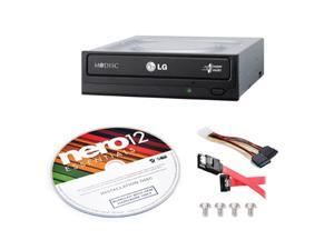 LG GH24NS95B DVD Rewriter 24X Speed w/ M-Disc + Nero12 + SATA Cable Kit