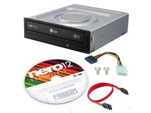 LG GH24NSC0 DVD Rewriter 24X Speed + Nero12 Software + SATA Cable Kit