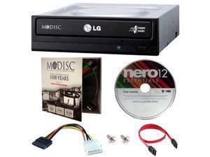 LG GH24NSC0 DVD Rewriter 24X Speed w/ Mdisc DVD + Nero12 + SATA Cables