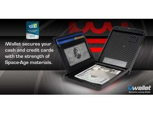 iWallet SCSCF Slim Carbon Fiber Safeguard Cash Cards and Valuables