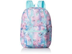 Disney FZ27563-SC-BL Girls' Frozen Elsa Print Backpack