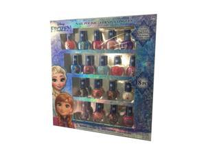 Disney FZ0655SA Frozen Best Peel-Off Nail Polish Deluxe Gift Set for Kids, 18 Count Colors