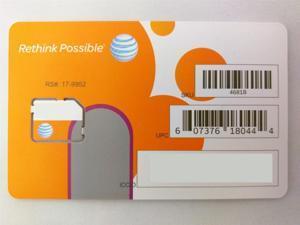 AT&T 3G / 4G / LTE Micro SIM Card Postpaid /Go Phone-SKU 4681B