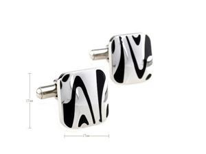 modern fashion enamel black&white Cufflinks Cuff link with Gift Box