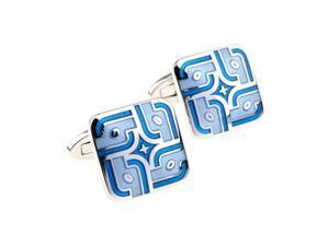 enamel blue elegance fashion Cufflinks Cuff link with Gift Box