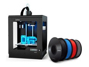 Zortrax M200 3D Printer Bundle with 4 Spools of Z-ABS Filament - Black, Blue, Red and Cool Grey