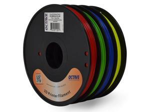Octave 1.75mm Rainbow ABS Filament 1.33kg (2.94lbs) 4 Color Red-Green-Blue-Yellow Spool for Reprap, MakerBot, Afinia and UP! 3D Printer