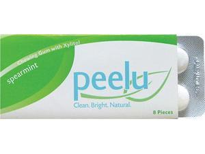 Peelu Chewing Gum Display - Spearmint - 8 ct - Case of 12