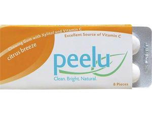 Peelu Chewing Gum Display - Citrus Breeze - 8 ct - Case of 12