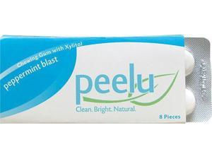 Peelu Chewing Gum Display - Peppermint Blast - 8 ct - Case of 12