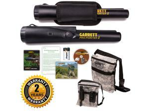 Garrett Pro-Pointer II and Camo Canvas Metal Detecting Finds Recovery Bag Pouch