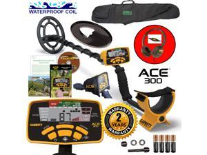 Garrett ACE 300 Metal Detector with DD Waterproof Search Coil and Carry Bag