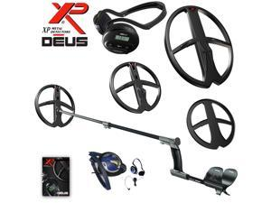 XP Deus Metal Detector Deep Gold & Relic Bundle, Backphones and 2 Search Coils