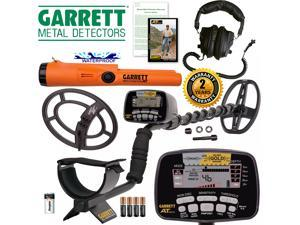 Garrett AT Gold Waterproof Metal Detector with Headphones and ProPointer AT