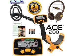 Garrett ACE 200 Metal Detector with DD Waterproof Coil and Clearsound Headphones