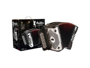 Hohner Panther 3100FB 3 Row Diatonic Accordion - Black