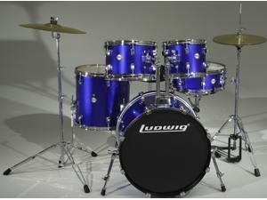 Ludwig Accent Fuse Blue Complete 5-Piece Drum Set