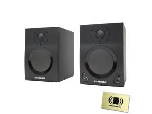 Samson SAMBT4 Samson MediaOne BT4 Active Studio Monitors with Bluetooth with Polishing Cloth