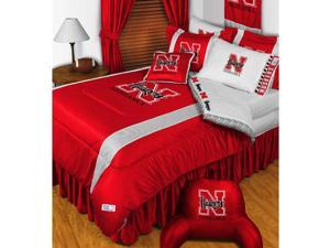 NCAA Nebraska Huskers King Comforter Set College Logo Bed