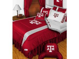 NCAA Texas A-M Aggies King Comforter Set College Logo Bed