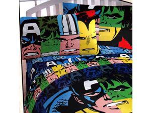 Marvel Comics Classic Avengers 4pc Twin Bedding Set