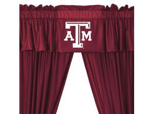 NCAA Texas A-M Aggies 5pc Long Jersey Drapes Valance Set