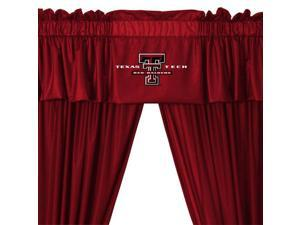NCAA Texas Tech Red Raiders College 5pc Valance-Curtains Set