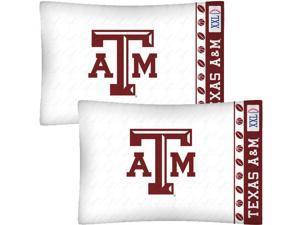 NCAA Texas A-M Aggies Football Set of Two Pillowcases