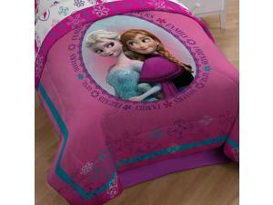 Disney Frozen Twin-Full Comforter Anna Elsa Snowflakes Bed