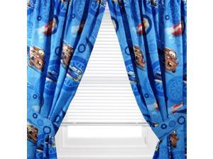 Disney Cars Curtain Set Lighting McQueen City Limit Drapes