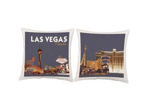 Las Vegas Pillows 14x14 White Vintage Outdoor Cushions