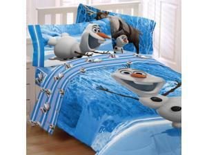 Frozen Twin Bedding Set Olaf Made of Snow Comforter Sheets