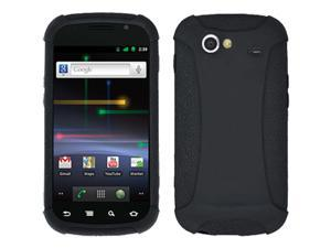 AMZER SILICONE SOFT JELLY SKIN FIT CASE COVER FOR SAMSUNG NEXUS S 4G 4 G GOOGLE NEXUS S 4G 4 G - BLACK