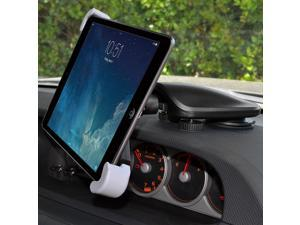AMZER UNIVERSAL STICKY DASH CAR MOUNT HOLDER FOR 7 - 11 INCH IPAD TABLETS EREADERS - TABLET ROTATES 360º / EASY ACCESS TO ALL PORTS/ADJUSTABLE FEET AND NECK