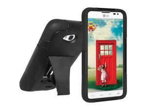 AMZER DOUBLE LAYER HYBRID CASE COVER WITH KICKSTAND FOR LG ULTIMATE 2 L41C