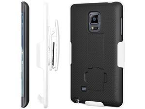 AMZER SHELLSTER WITH KICKSTAND CASE FOR  SAMSUNG GALAXY NOTE EDGE SM-N915F - WHITE/BLACK