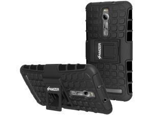 New Hybrid Warrior Rugged Kickstand Case Black For Asus Zenfone 2 ZE550ML ZE551ML