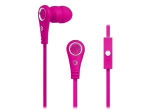 AT&T Tangle Free Flat Performance 3.5mm Noise Isolation In-Ear Earbud with built-in Microphone Headphone