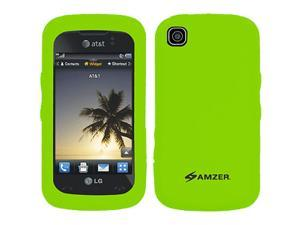 Amzer Silicone Skin Jelly Case for LG Encore GT550 - Green