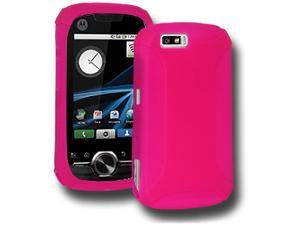 Amzer Silicone Skin Jelly Case for Motorola i1 - Hot Pink