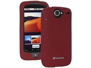 Amzer Silicone Skin Jelly Case for HTC Nexus One, Google Nexus One PB99100 - Maroon Red