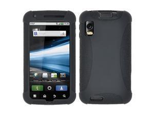 Amzer Silicone Skin Jelly Case for Motorola ATRIX 4G MB860 - Black