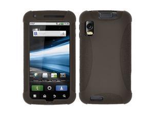Amzer Silicone Skin Jelly Case for Motorola ATRIX 4G MB860 - Grey